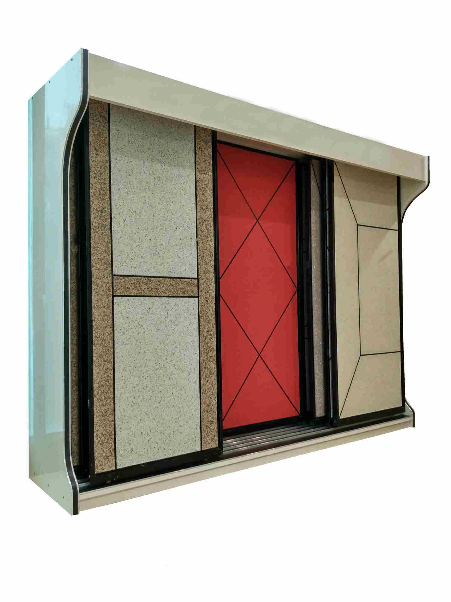 Really Stone Paint Display Cabinet, Granite Coatings Display Cabinet,Push-pull Type-S077