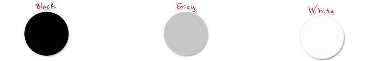 black White gray