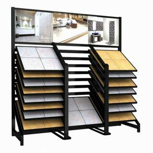 double rows sloping drawer stone tile display rack-T023
