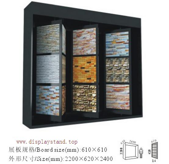 Cultured Stone Displays,Cultured Display Cabinet,4 faces Revolving Cultured Stone Display Cabinet-S056
