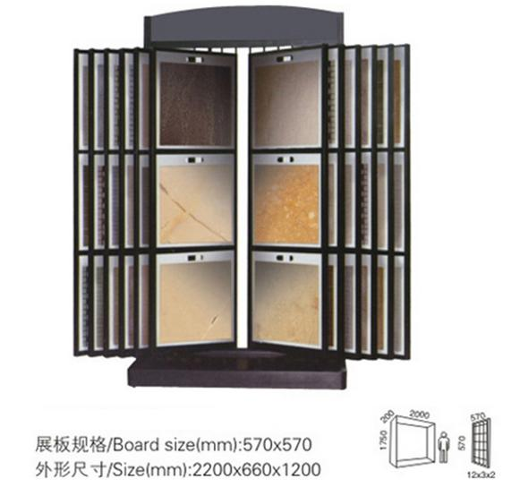 Ten-layers Wing Rack Displays.Tiles Display Stand,Fashion Tile Display Stand-T063
