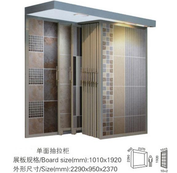 One Side Push-pull Type Ceramic Tile Display Cabinet,Tile Stands For Display-T064
