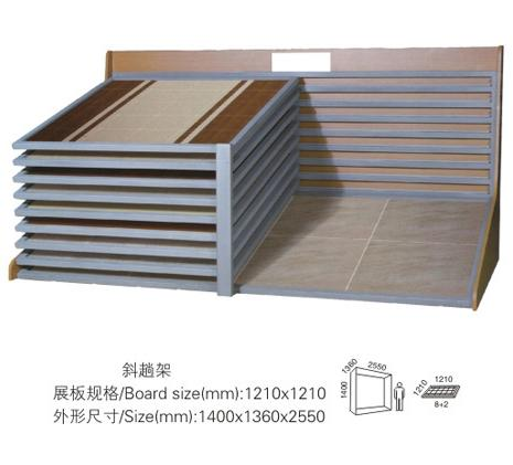 15°Ceramic Tile Shelf,Wire Ceramic Tile Display Stand,Ceramic Tile Rack-T054
