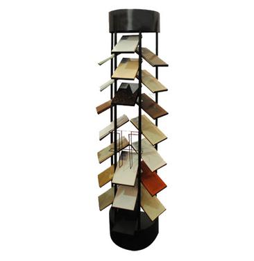 Cylinder Quartz Stone Display Tower,Showing four directions-S003