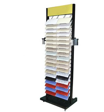 Two Rows Of Upright Stone Display Rack-S010