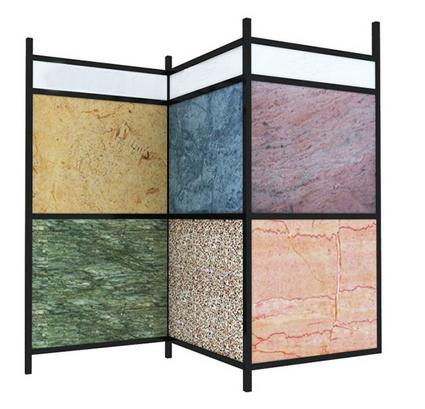 Double Sides Granite Slab Display Racks,Quartz Simplified type Stone Display Rack-S069