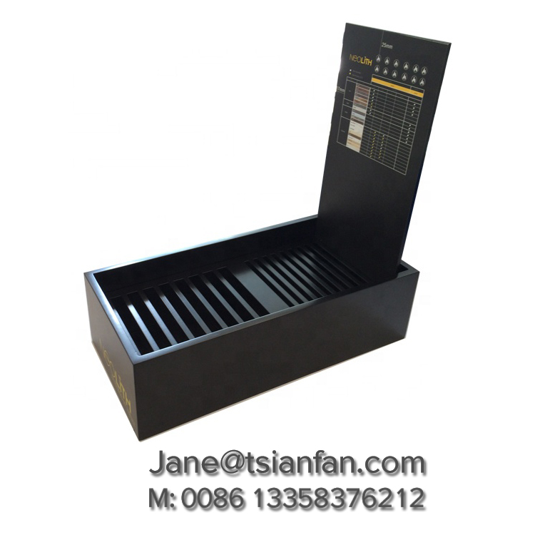 Black Acrylic Stone Display Stand,Table Top Display Stands-S072