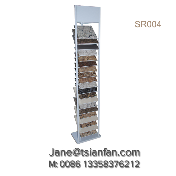 Natural Stone Display Stand,Granite Sample Chip Display Tower SR004