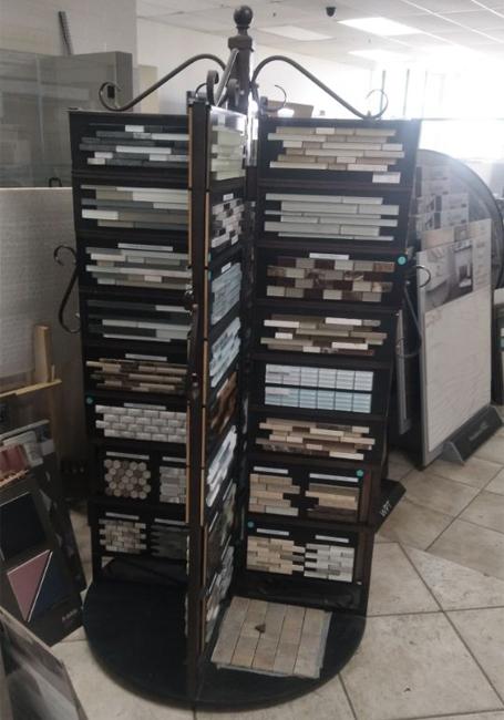 Rotating Ceramic Mosaic Tile Display Stand M015