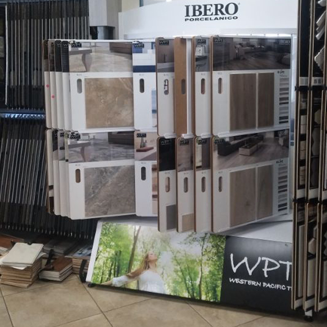 Vinyl Wing Display Rack, Wooden Floor Display Rack T082