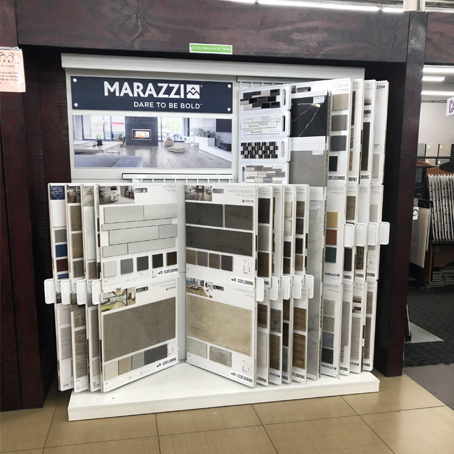 Page Turning Display Rack For Mosaic Tile Display, In The Showroom MD063