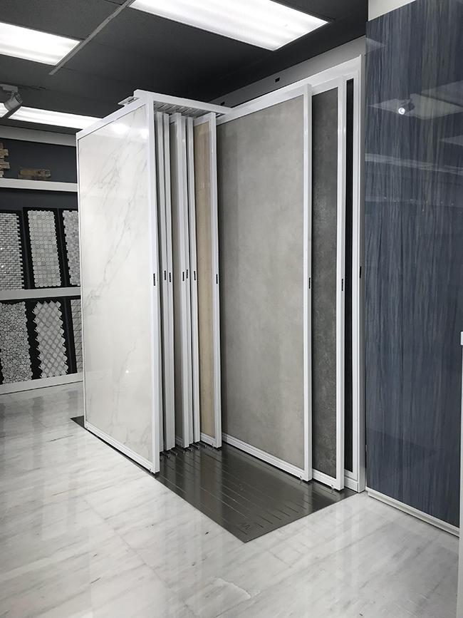 Sliding Tile Display Rack For Showroom Display MD082