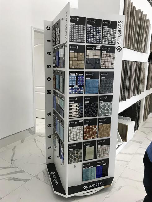 Custom Rotating Mosaic Tile Display Stand MD102