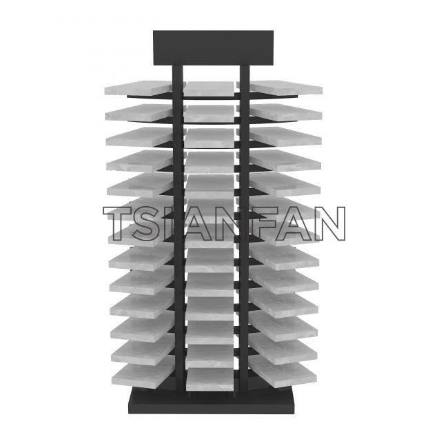 Waterfall Tile Design Metal Or Wooden Showroom Display Shelves ST-100