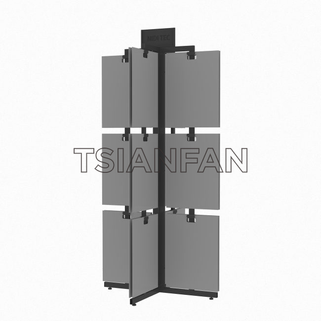 Rotate Stone Display Tower With MDF Boards ST-13  Stone display