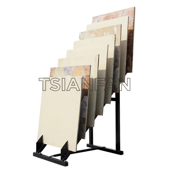 New Ceramic Tile 600 800 Line Sample Display Rack Stone Wood Display Floor Display Rack Promotion ST-89 Stone display