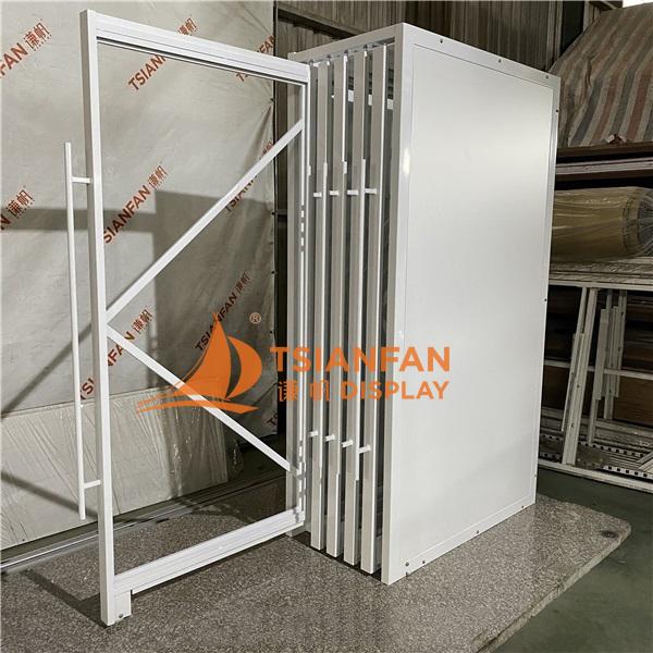 Porcelain Tile Sliding Display Rack,ceramic tile display stand